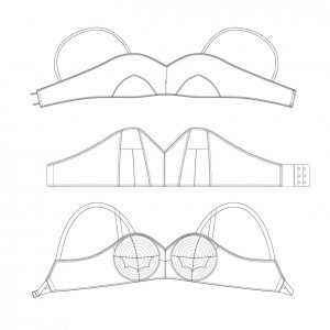 The Underpinnings Museum 1920-50s Bra Pattern Pack: 3 patterns for £25