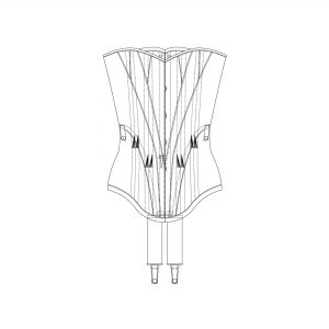 1900s Corset Pattern Pack Technical illustration. The Underpinnings Museum