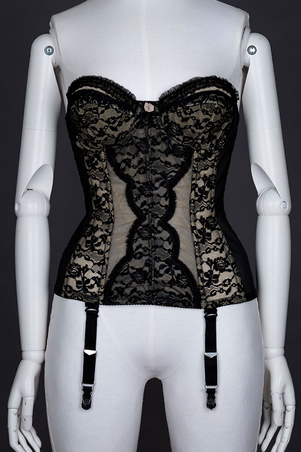 Lace & Ruffle Corselet By Lady Marlene, c. 1950s, USA. Photography by Tigz Rice. The Underpinnings Museum