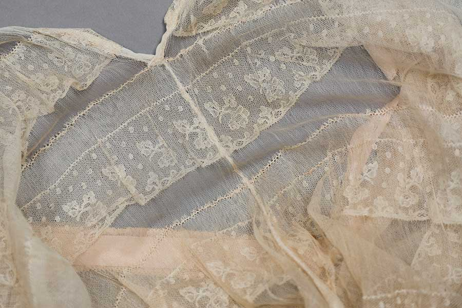 Photography by Tigz Rice Studios Silk tulle and lace ruffle step-in. The Underpinnings Museum.