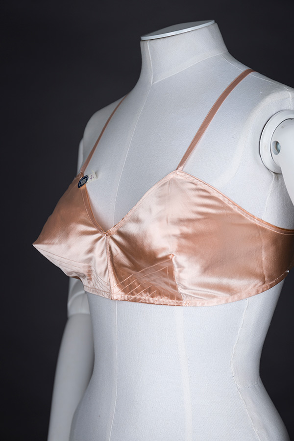 Satin quilted bra by Liberation Photography by Tigz Rice Studios The Underpinnings Museum