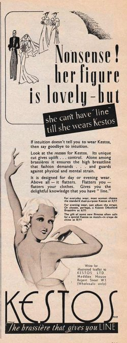 Kestos Bra 'Line' Advertisement, circa 1930s, The Underpinnings Museum