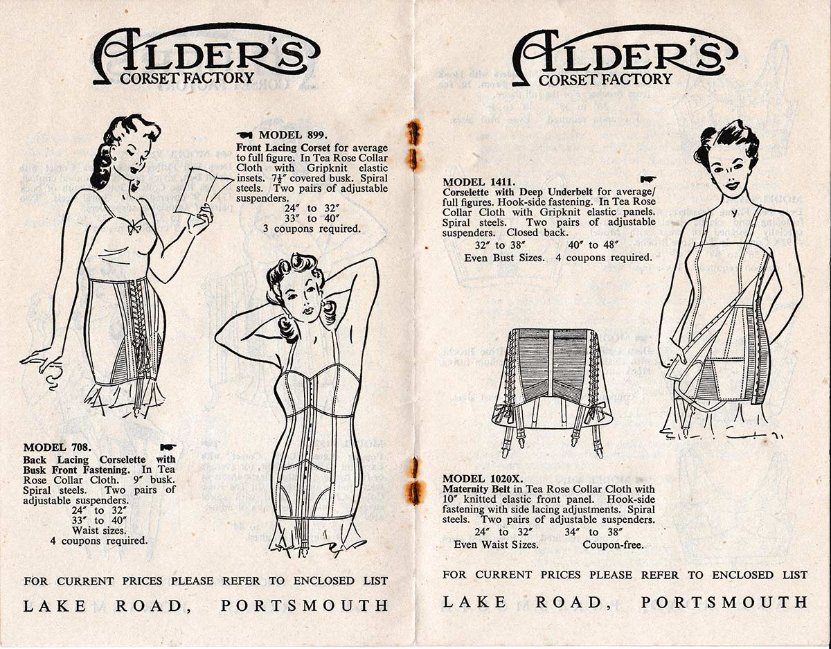 Aldrex Corsets & Brassieres Catalogue, circa 1950, The Underpinnings Museum