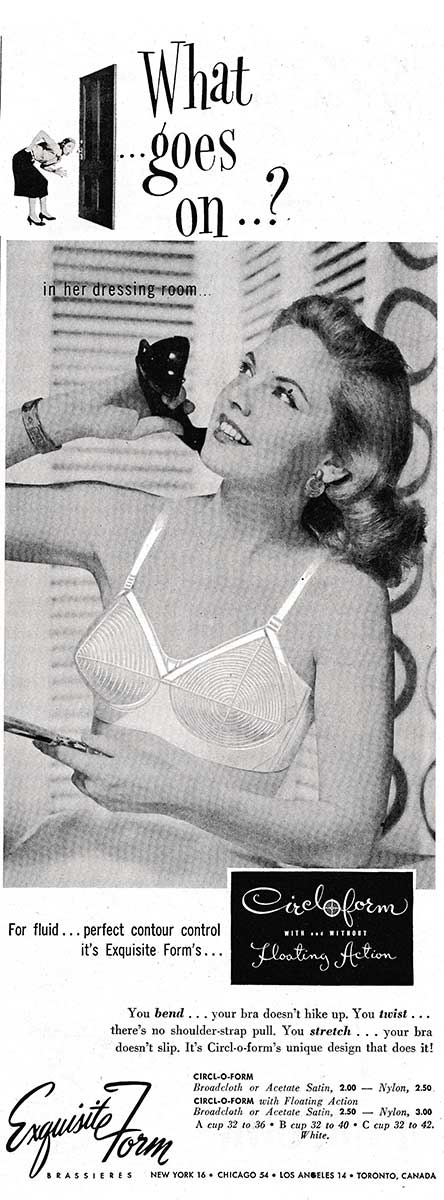 Exquisite Form 'Circloform Floating Action' Brassiere Advert