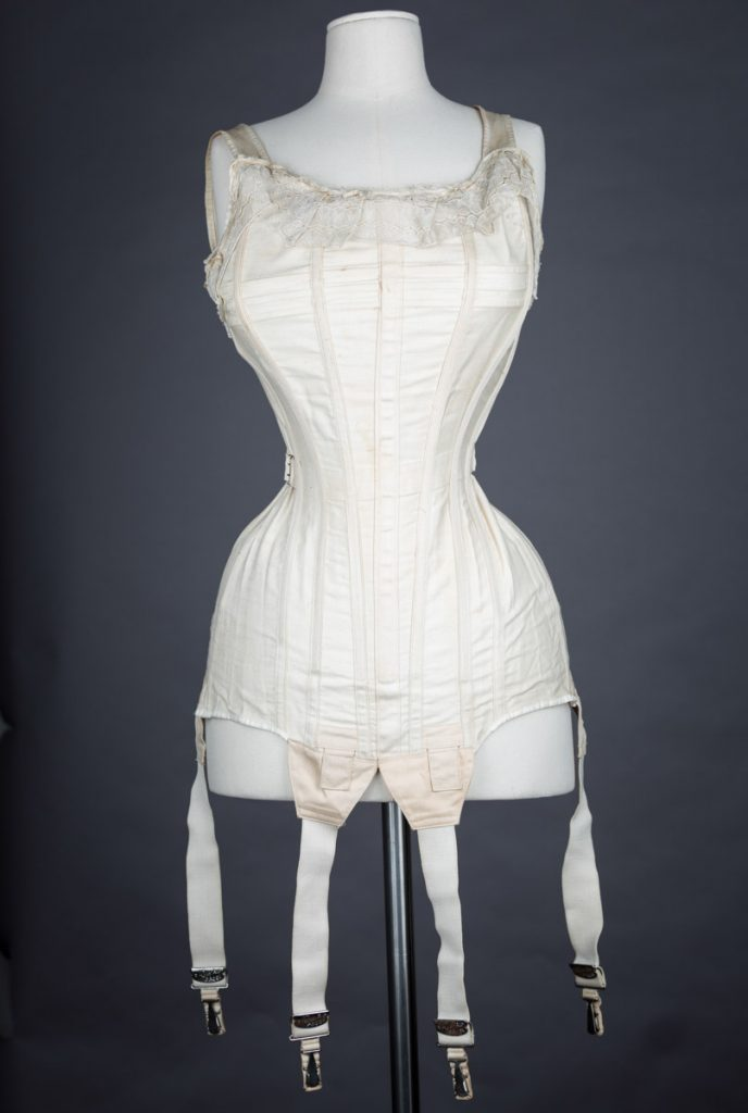 Sahlin 'Perfect Form' Combination Bust Improver & Corset, c. 1908 The Underpinnings Museum shot by Tigz Rice Studios 2017