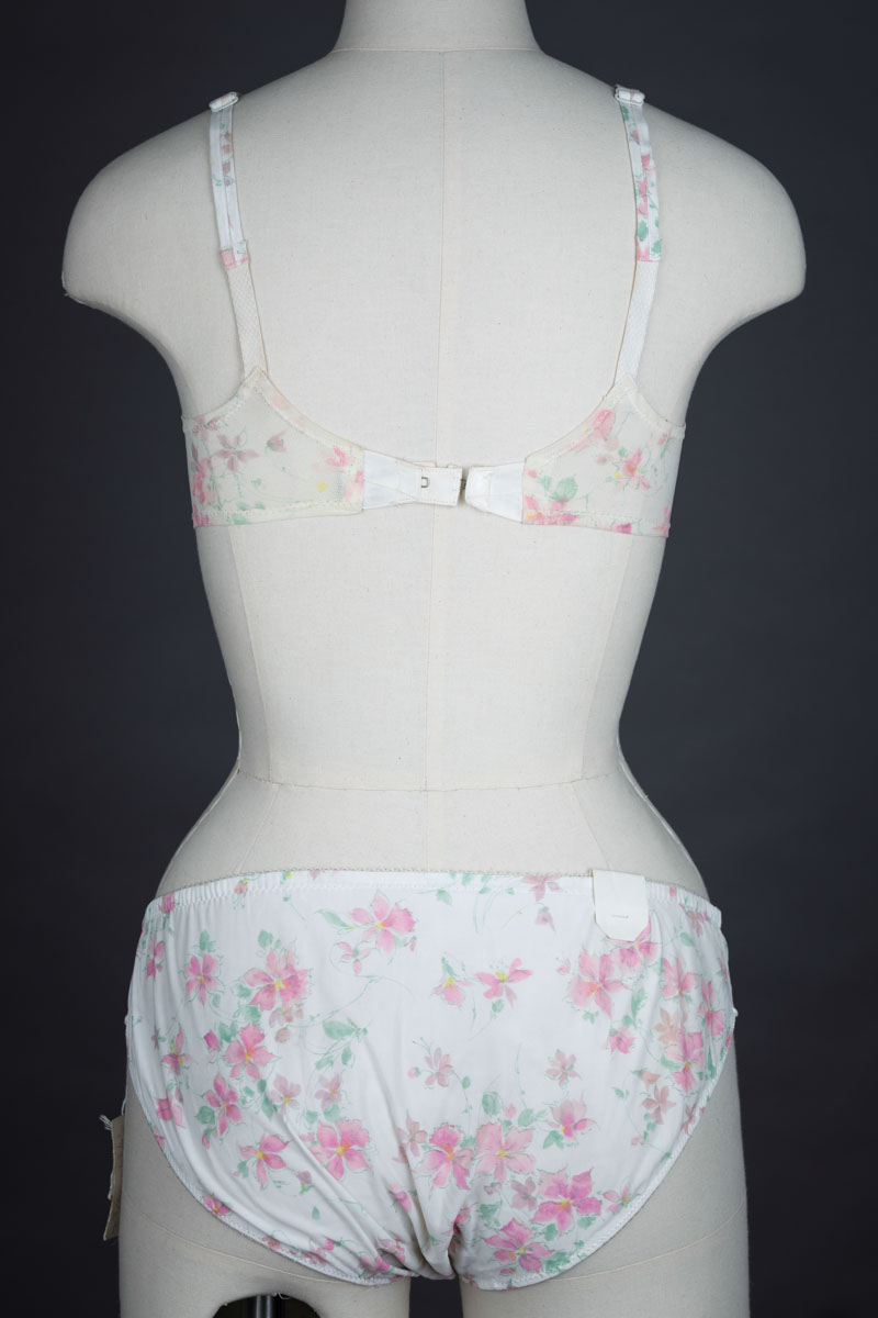 Floral Printed Nylon Bra & Knicker Set By Saks Fifth Avenue | The ...