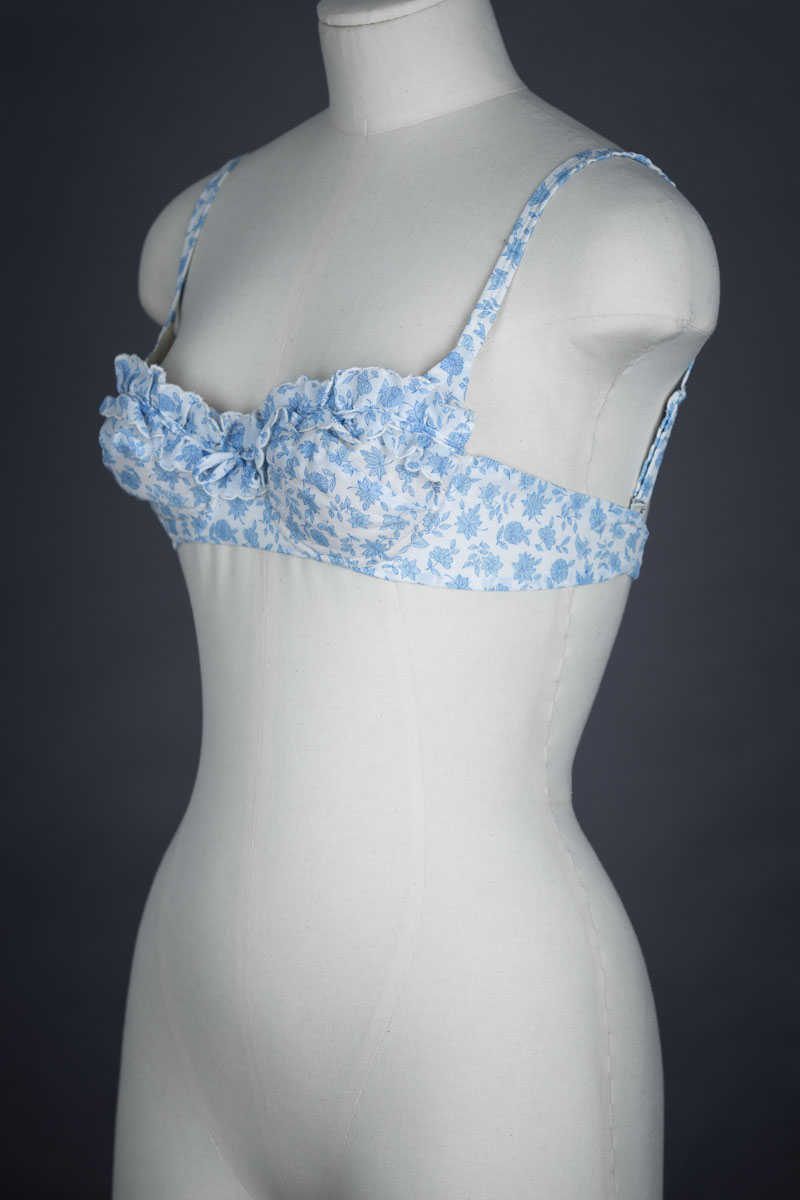 Floral Ruffled Terylene Bra By St Michael, c. 1960s The Underpinnings Museum shot by Tigz Rice Studios 2017