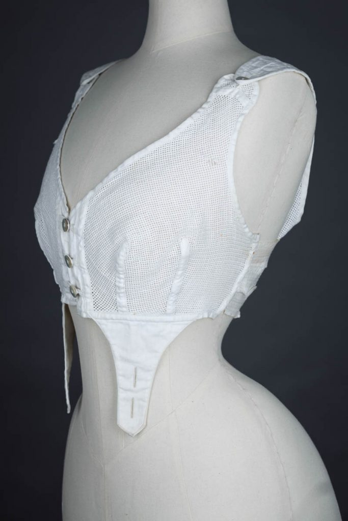 Aertex and elastic bust bodice, c. 1900s The Underpinnings Museum shot by Tigz Rice Studios 2017
