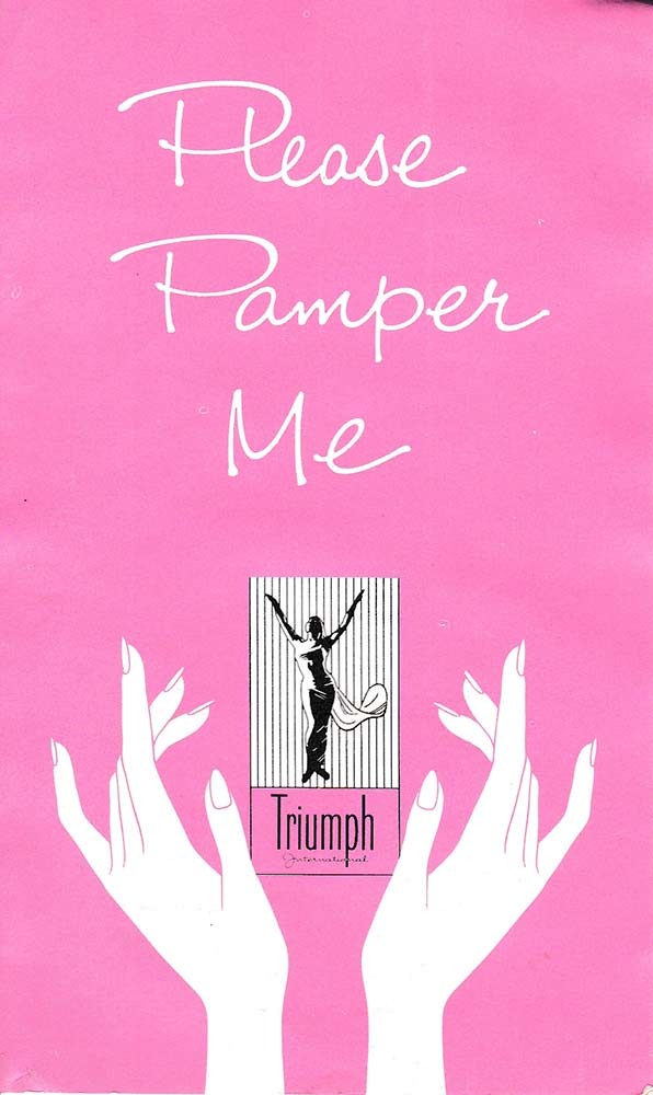 Triumph 'Please Pamper Me' Garment Care Booklet, c. 1950s. The Underpinnings Museum