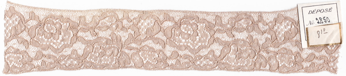 Leavers machine lace sample. C. 1900, France. From The Underpinnings Museum collection