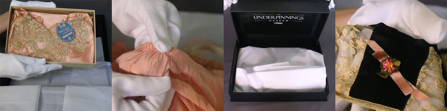 The Underpinnings Museum Unboxing. Videos by Sarah Hardcastle at London College of Fashion