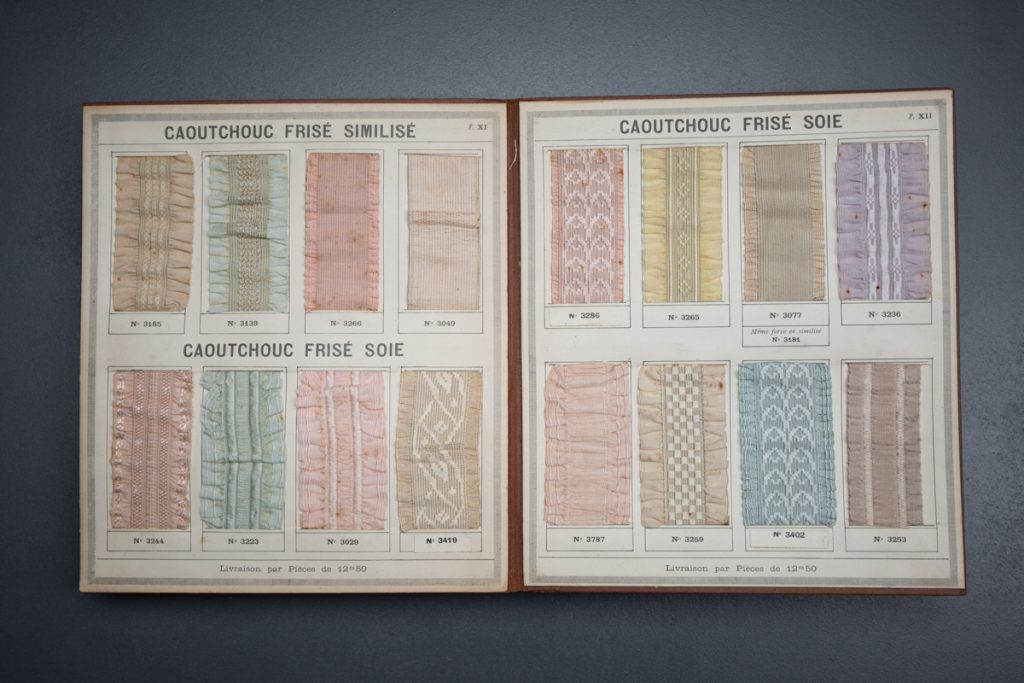 'Lacets Et Tissus Elastiques No 23' Elastic Trim Catalogue, c. 1900s, France Photography by Tigz Rice Studios From The Underpinnings Museum collection