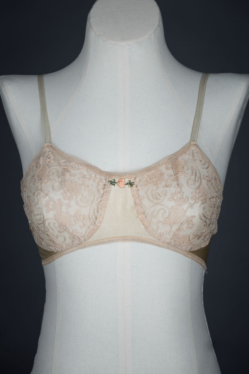 Silk & Lace Bra By Warner's Egyptian, c. 1920s, USA. The Underpinnings Museum. Photo by Tigz Rice