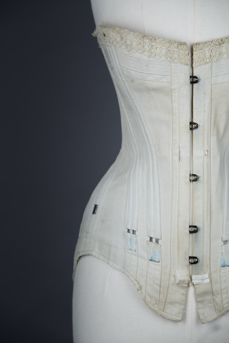 b2fb6e2c8f3 ... Cotton corset with cording and exposed spiral steel boning