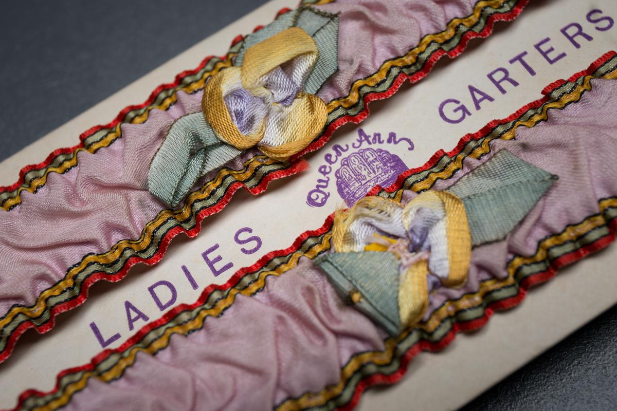 Queen Ann silk ribbon garters c. 1920s, USA, The Underpinnings Museum, Tigz Rice