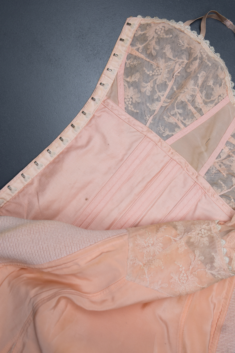 Silk Slip With Integrated Corselet By Redfern, c.1920s, USA. The Underpinnings Museum. Photography by Tigz Rice