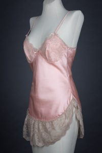 Polyester satin and lace slip by Janet Reger, c. 1970s, UK.  The Underpinnings Museum. Photography by Tigz Rice.