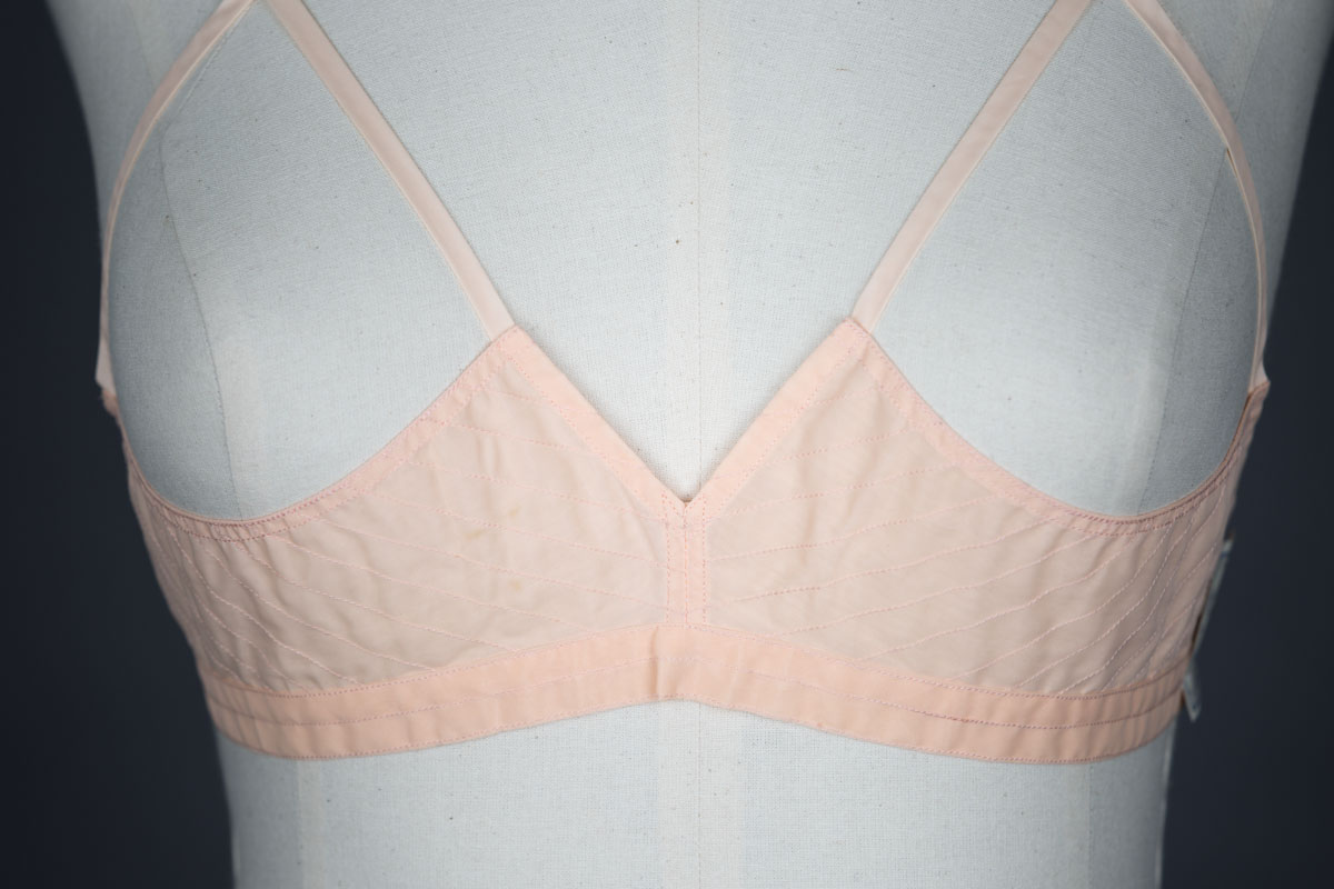 Quilted Nylon Sling Bra By Rose Marie, c. 1950s, France. The Underpinnings Museum. Photography by Tigz Rice