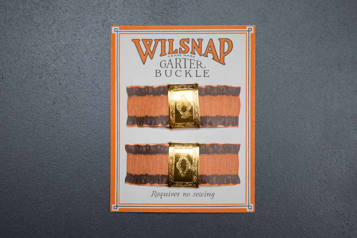Adjustable Garter Buckle Cards By Wilsnap, c. 1920s, USA. The Underpinnings Museum. Photography by Tigz Rice