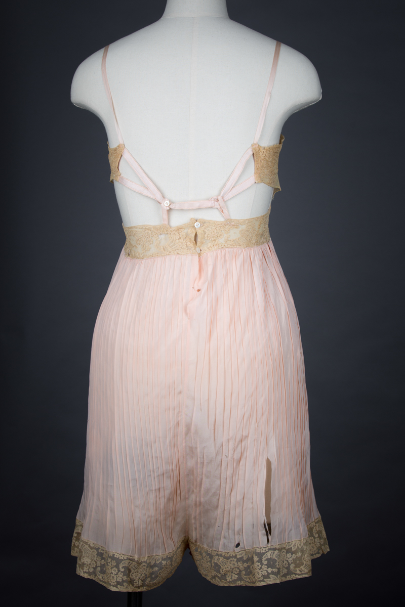 Pleated Silk & Lace Cut Out Teddy, c. 1930s, USA. The Underpinnings Museum. Photography by Tigz Rice