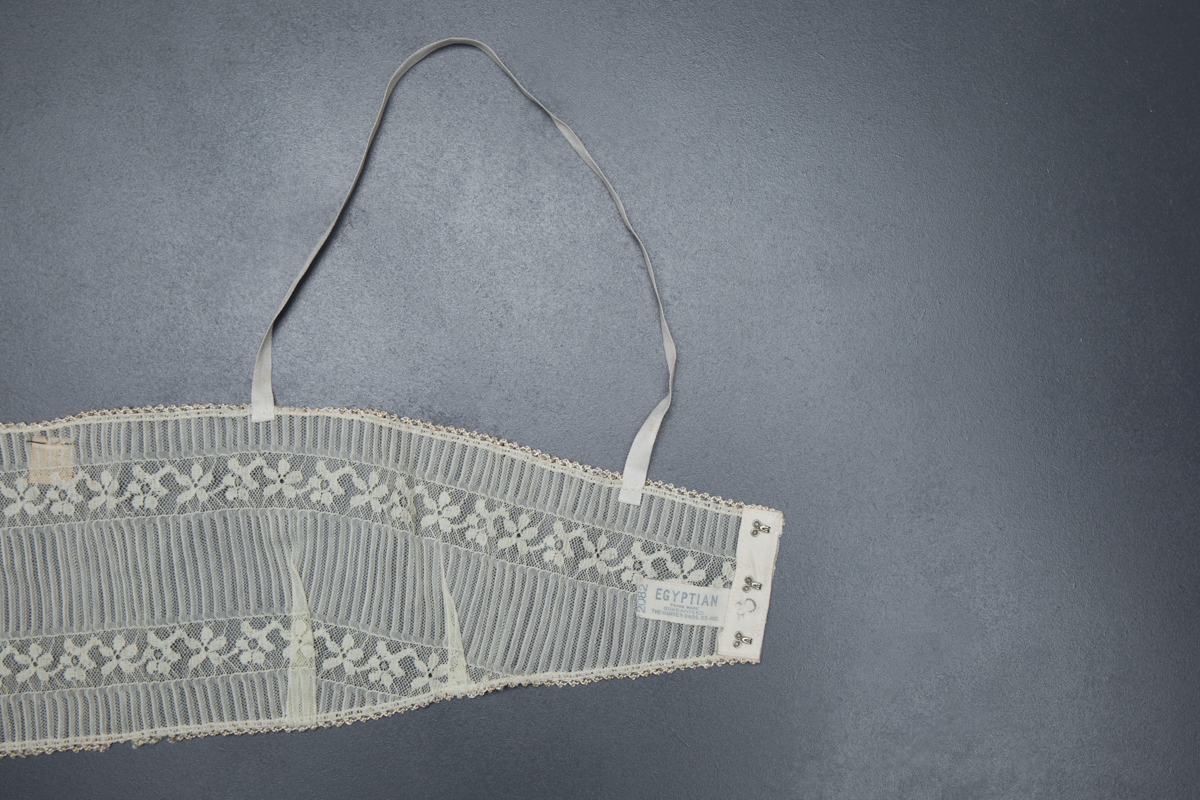 Lace Bandeau Bra By 'Egyptian', By The Warner Bros. Co. Inc., c. 1920s, USA. The Underpinnings Museum. Photography by Tigz Rice