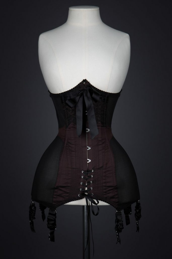 Silk & Powernet Corset Girdle By Sian Hoffman. The Underpinnings Museum. Photography by Tigz Rice