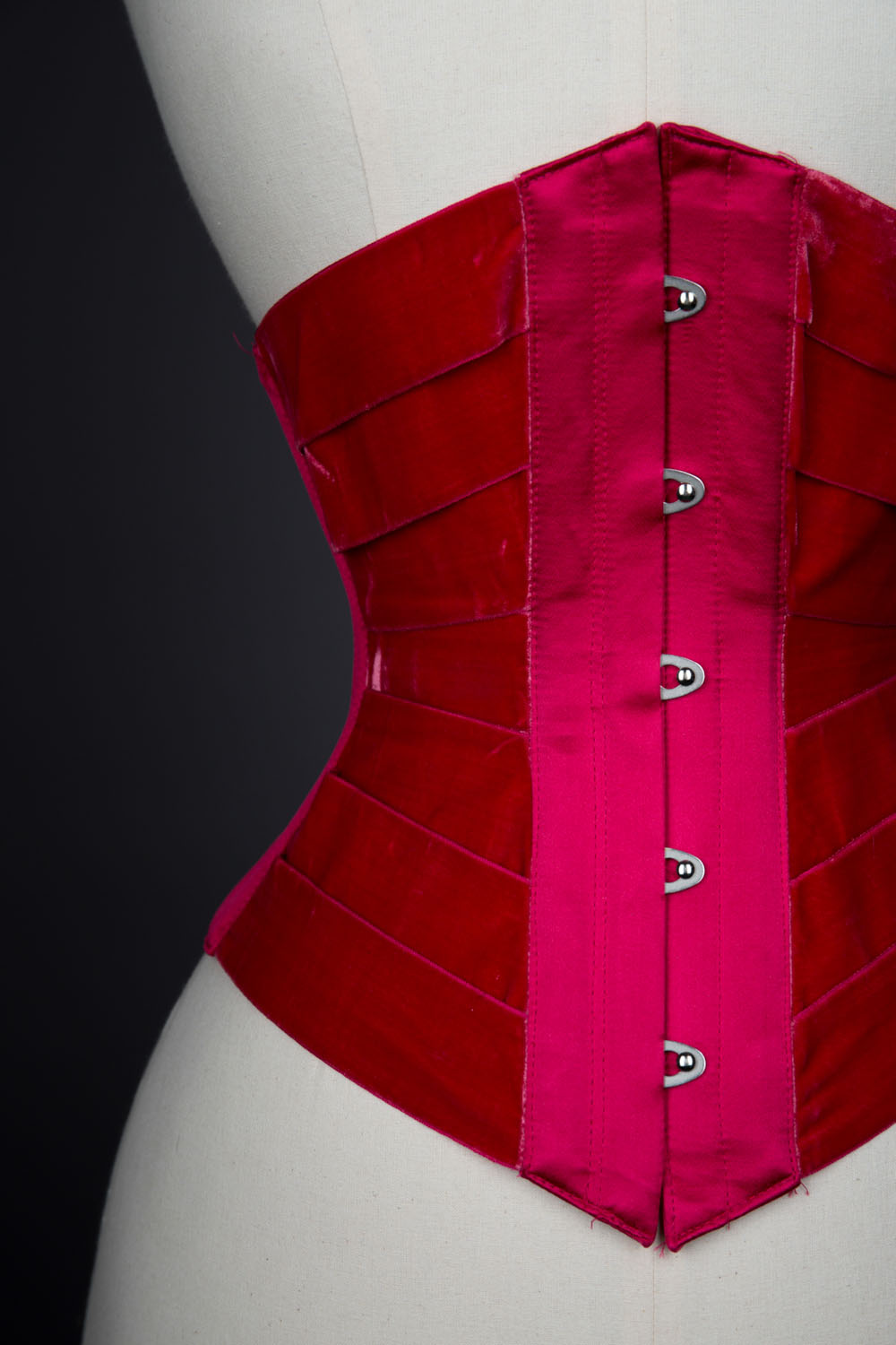 'Vixen' velvet ribbon corset by Pop Antique. The Underpinnings Museum. Photography by Tigz Rice