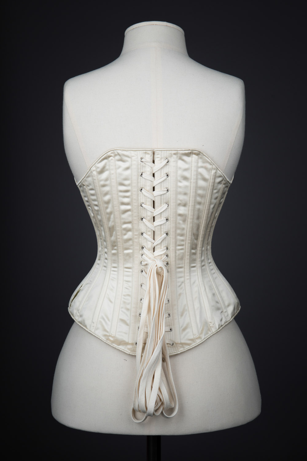 c. 1890s Symington Reproduction Silk Corset By Cathy Hay. The Underpinnings Museum. Photography Tigz Rice