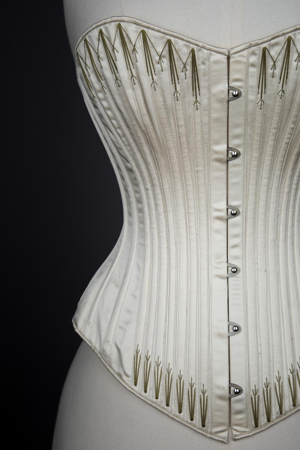92de798c2c8 1890s Symington Reproduction Silk Corset By Cathy Hay. The Underpinnings  Museum. Photography · c.