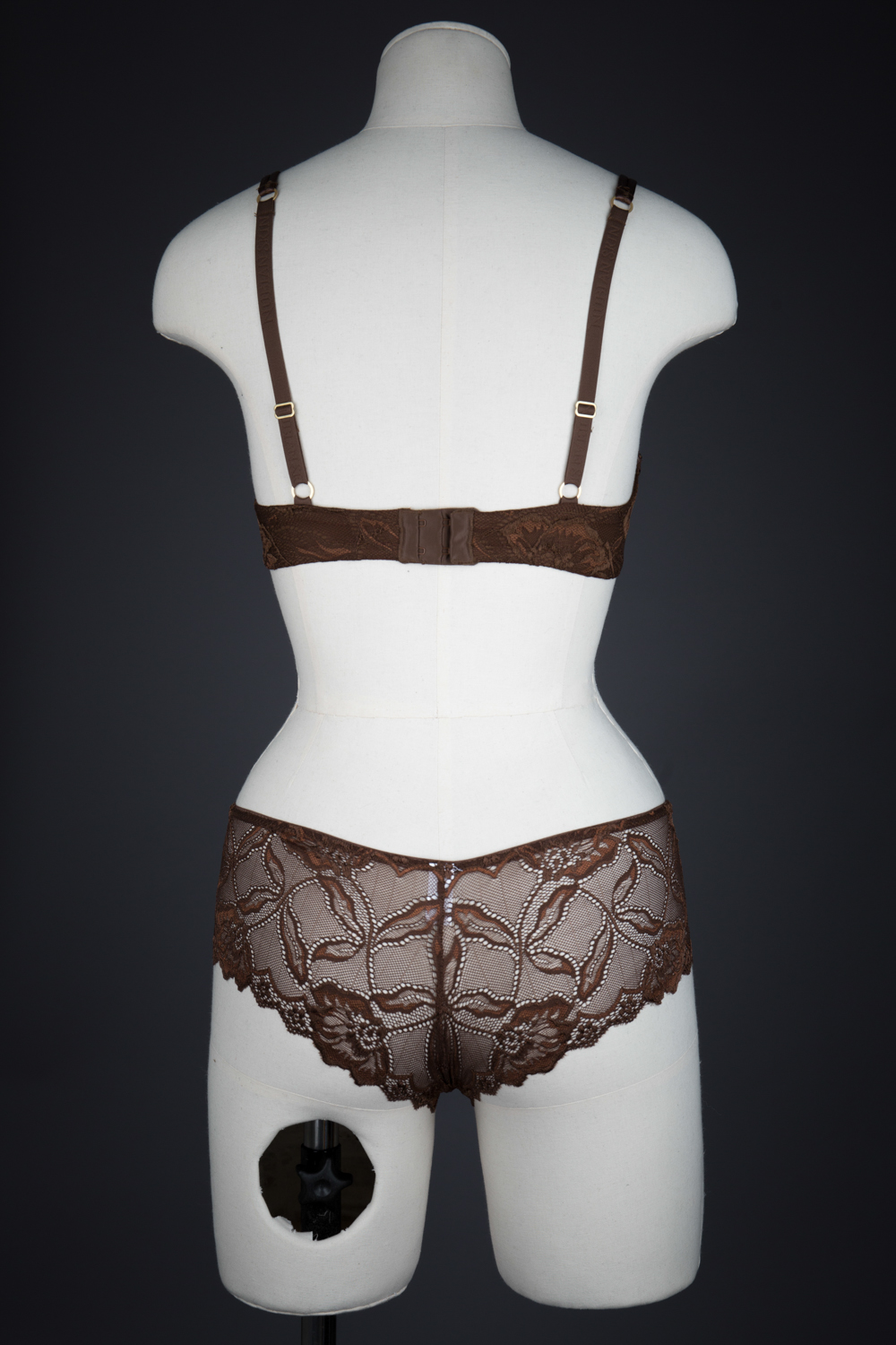 'Berry' Push Up Bra & Lace Short by Nubian Skin, 2014, made in China for a UK based brand. The Underpinnings Museum. Photography by Tigz Rice.