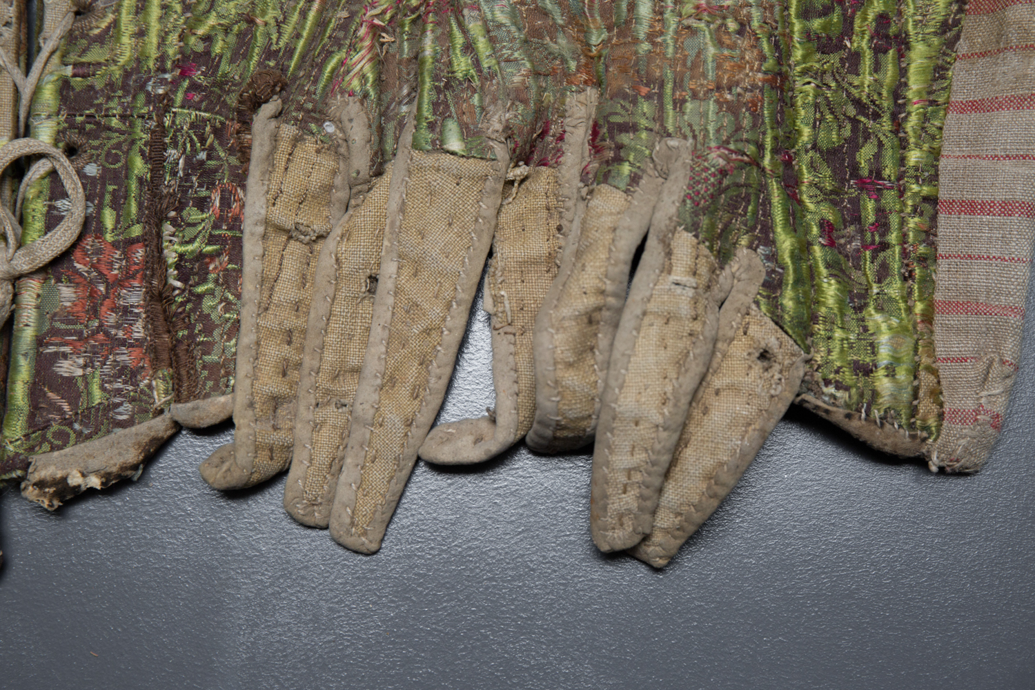 Silk Brocade Whaleboned Stays, c. 1770s, Austria. The Underpinnings Museum. Photography by Tigz Rice.
