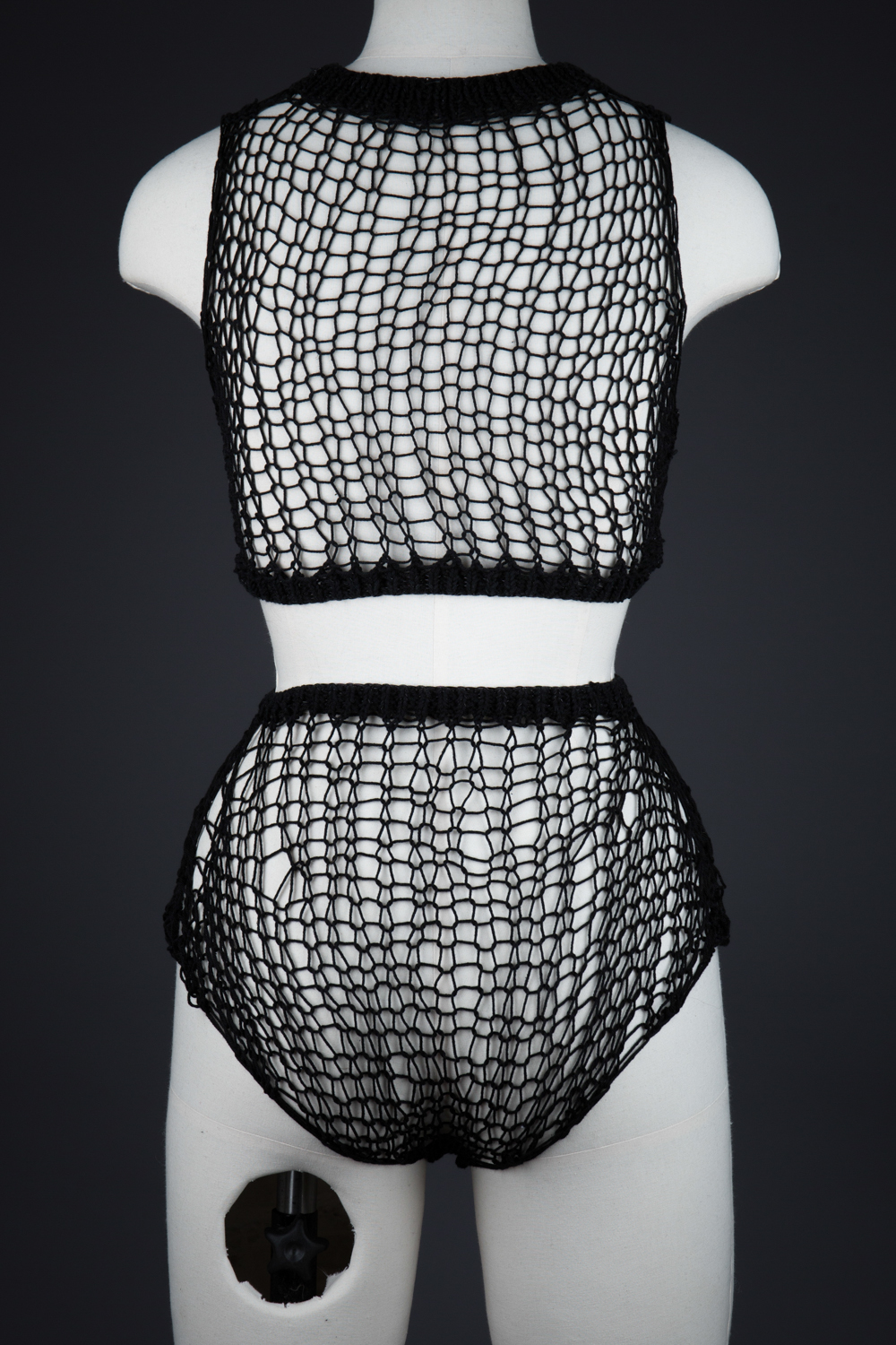 'Alice' Knitted Crop Top & Knickers by Maude Nibelungen, 2017, Canada. The Underpinnings Museum. Photography by Tigz Rice.