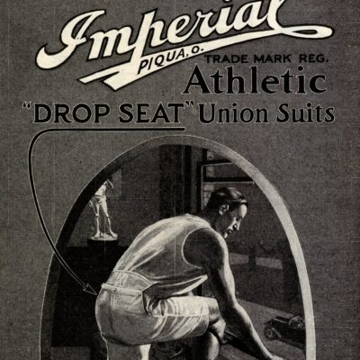 Detail from an advert for Imperial union suits. From the collection of Dr Shaun Cole.