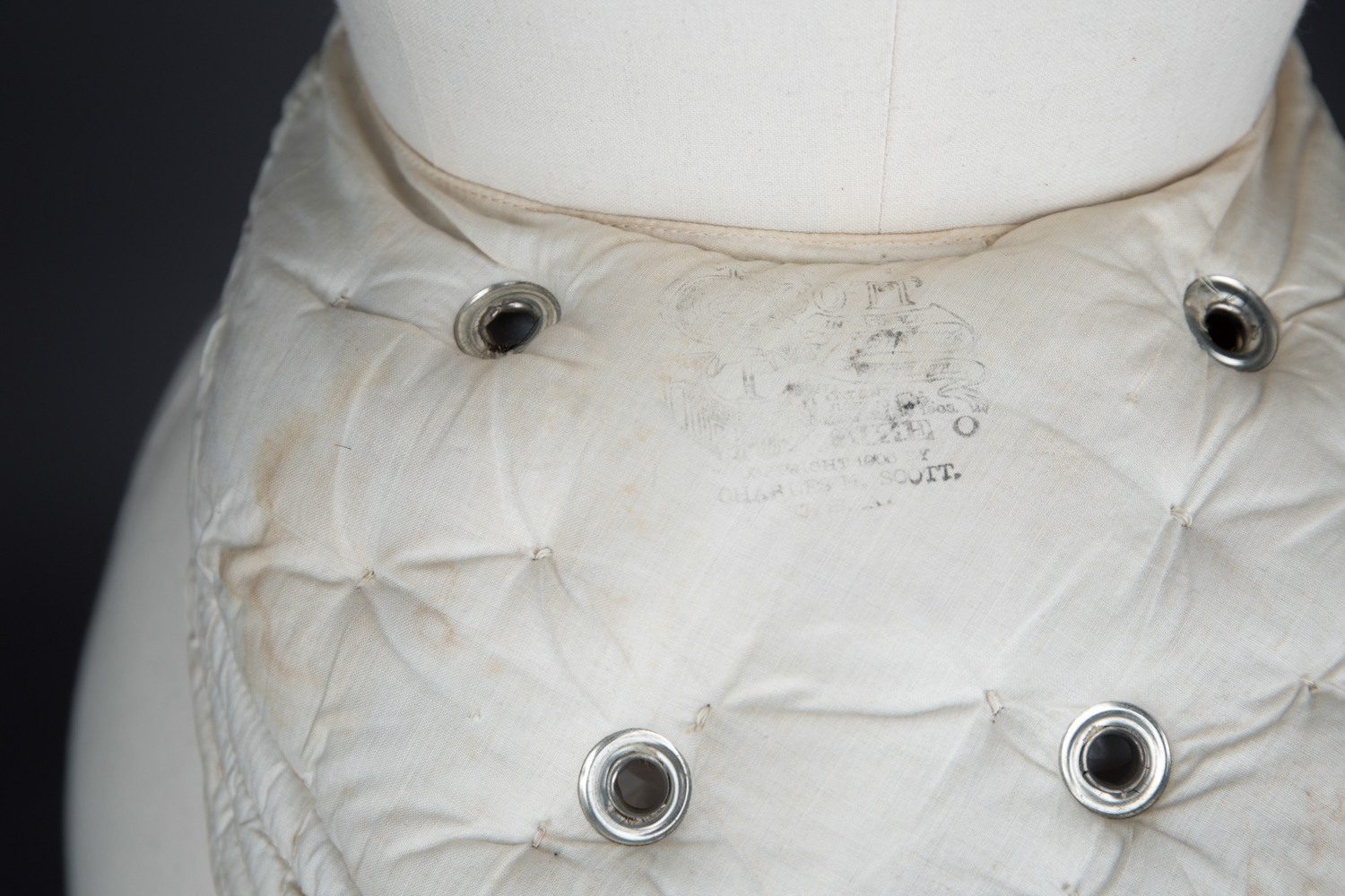'The Scott' Ventilated Hip Pad & Bustle by Charles H. Scott, c. 1905, USA. The Underpinnings Museum. Photography by Tigz Rice.