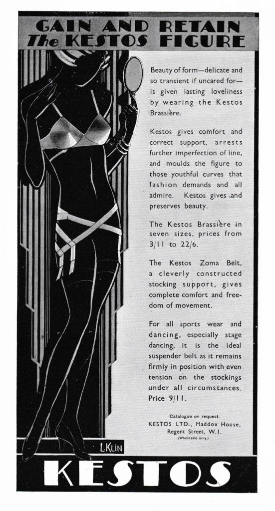 'Gain And Retain The Kestos Figure' Advertisement, 1931, Great Britain. The Underpinnings Musuem