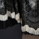 Striped Underskirt With Lace & Pinked Trim, c. 1890-1900s. The Underpinnings Museum. Photography by Tigz Rice.
