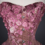 Falling Blossoms Overbust Corset By Sparklewren, c. 2015, United Kingdom. The Underpinnings Museum. Photography by Tigz Rice