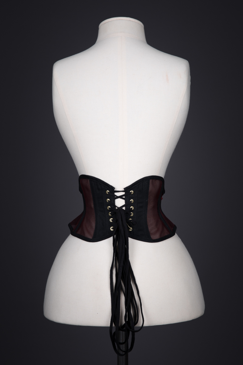 Sheer Lace Appliquéd Cincher By Sparklewren, c. 2014, United Kingdom. The Underpinnings Musuem. Photography by Tigz Rice