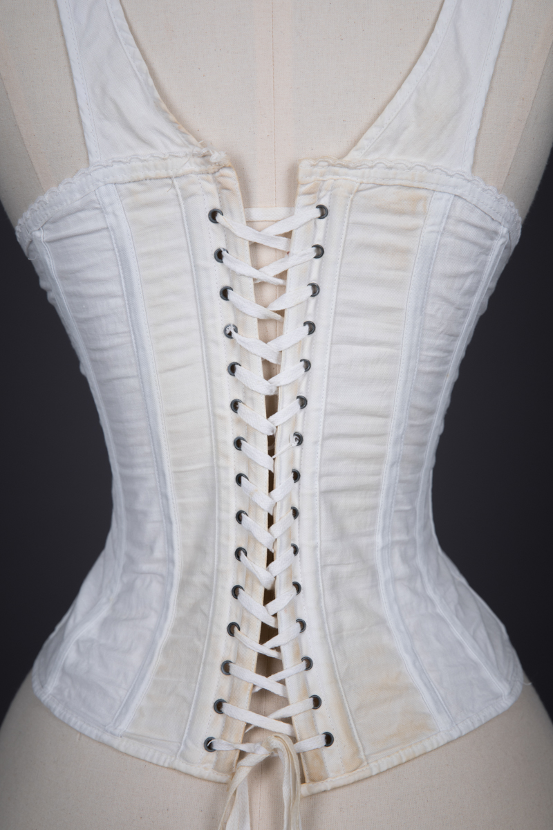 Cotton Twill Sport Corset By Martha Waist Washington, c. 1890s, USA. The Underpinnings Museum. Photography by Tigz Rice.