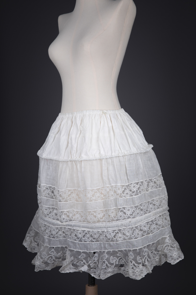 'Robe De Style' Cotton & Lace Hoop Skirt, c. 1920s. Russia. The Underpinnings Museum. Photography by Tigz Rice.