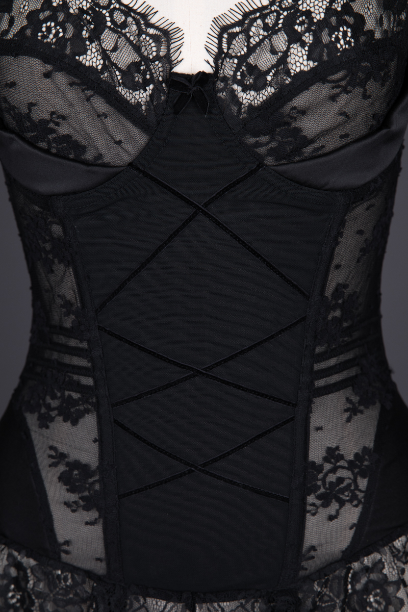 'Van Mimi' Velvet Ribbon & Lace Basque by Kiss Me Deadly, c. 2008, Made in China, Designed in the UK. The Underpinnings Museum. Photography by Tigz Rice