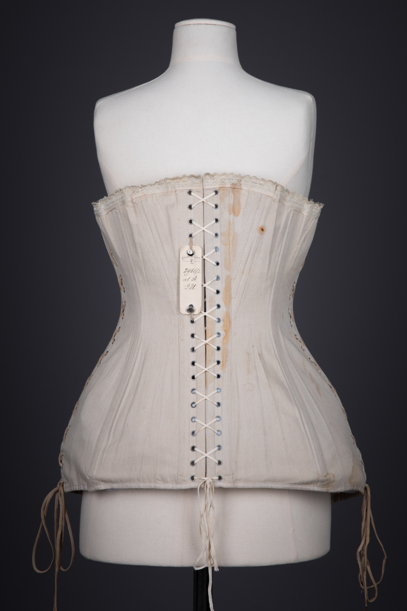 Maternity & Nursing Corset With Open Bust, Elasticated Panelling & Laced Side Seams By Corset Au Coeur, c. 1910s, France. The Underpinnings Museum. Photography by Tigz Rice