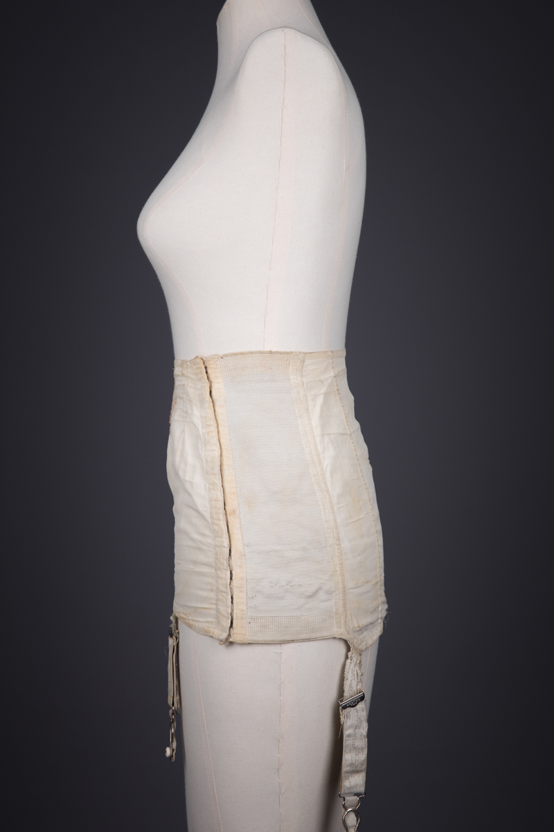 Silk Crepe With Lace Appliqué Girdle By Kestos, c. 1930s, Great Britain. The Underpinnings Museum. Photography by Tigz Rice