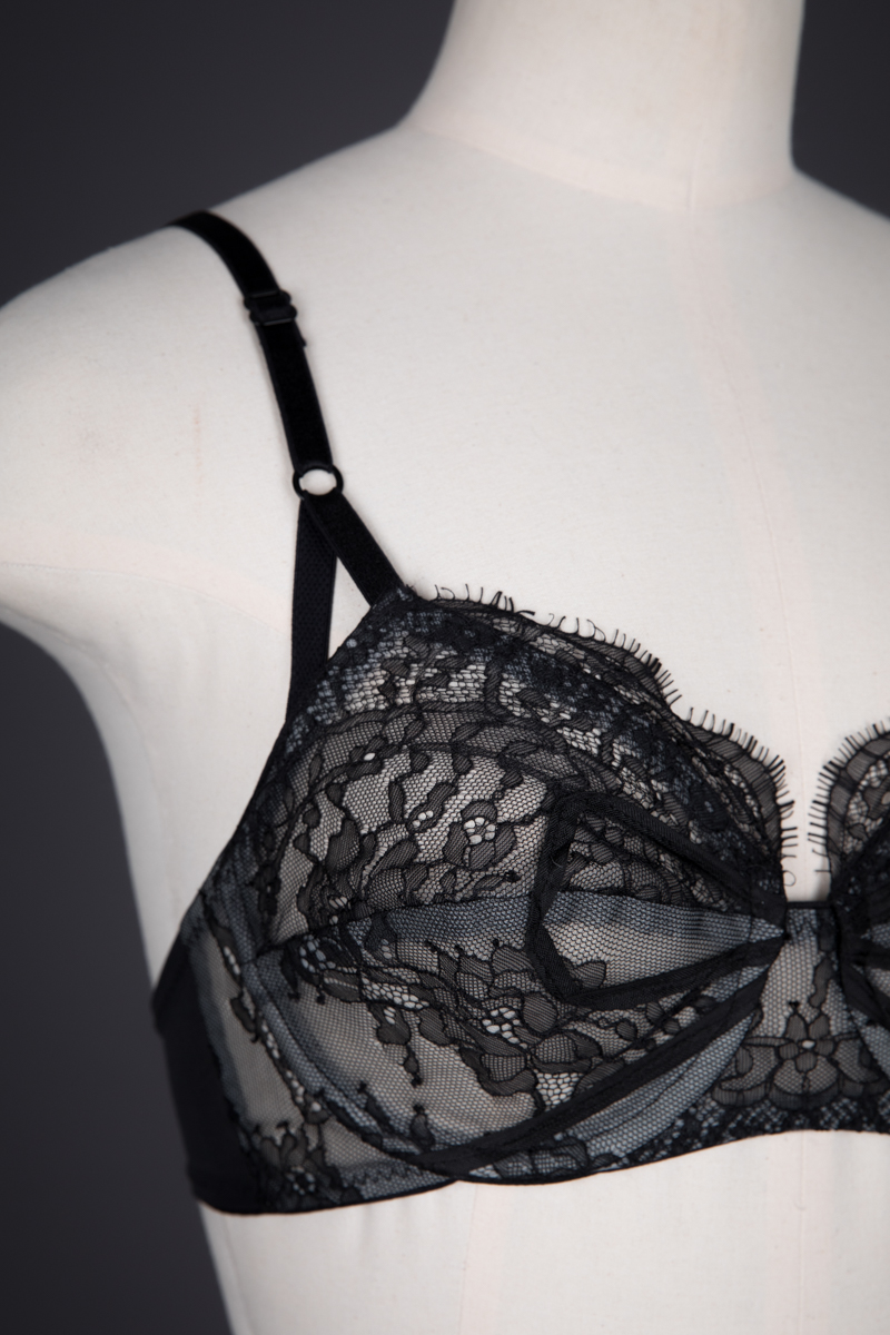 'Bricolage' Lace Bra & Garter Belt By Dottie's Delights, c. 2012, USA. The Underpinnings Museum. Photography by Tigz Rice