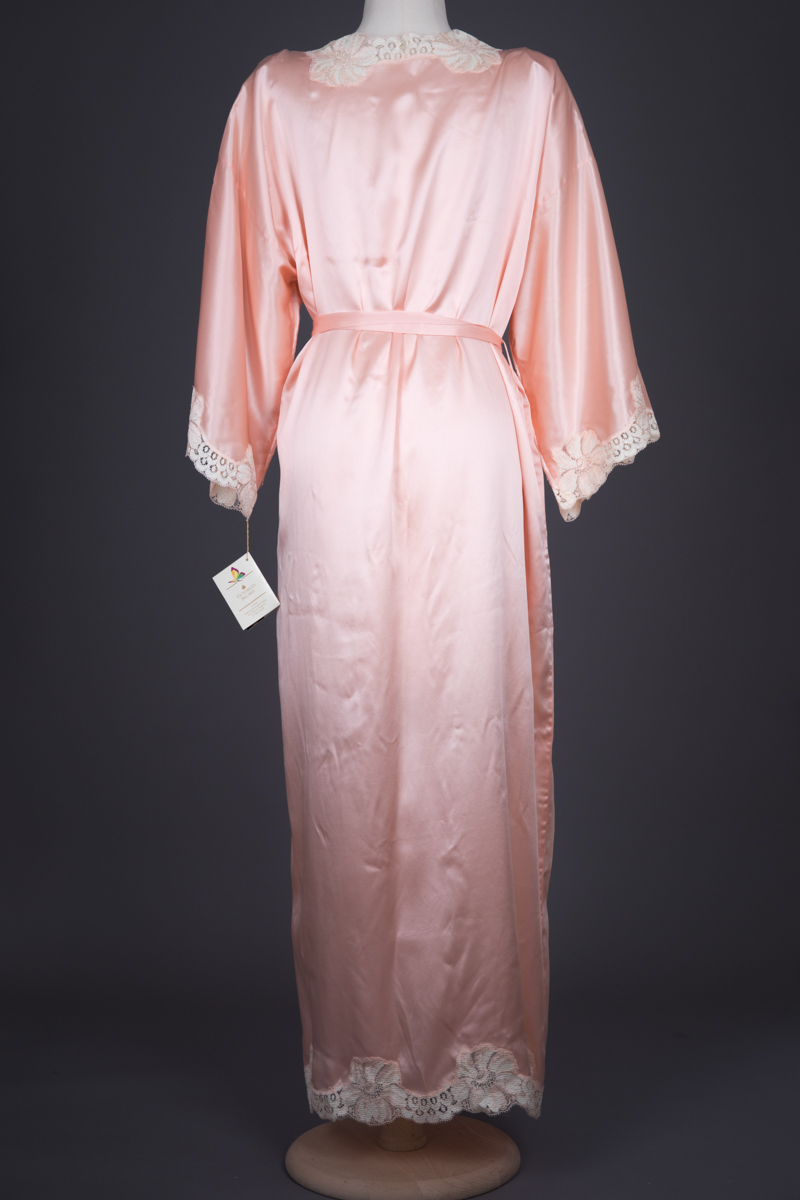 Silk With Lace Appliqué Robe & Slip Set By Victoria's Secret, c. 1980s, USA. The Underpinnings Museum. Photography by Tigz Rice