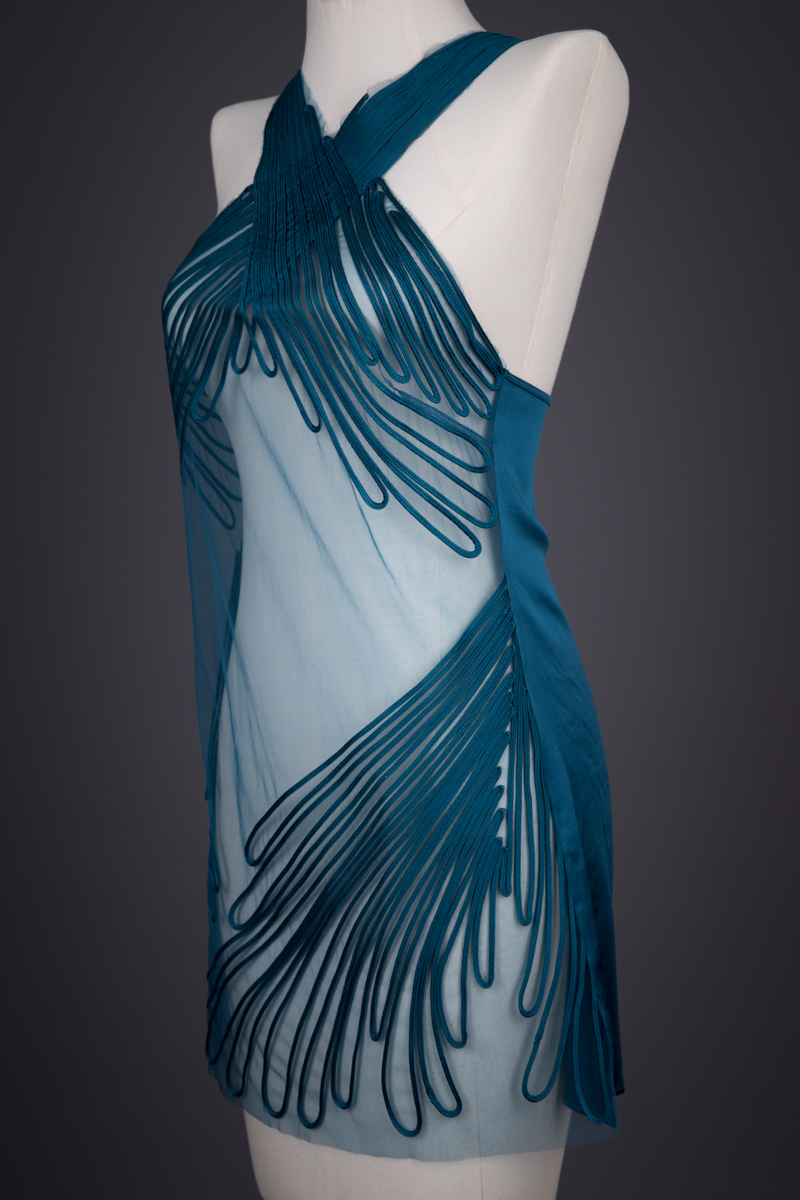 'Feuillage' Silk Soutache Slip By Jean Paul Gaultier For La Perla, c. 2010, Italy. The Underpinnings Museum. Photography by Tigz Rice.