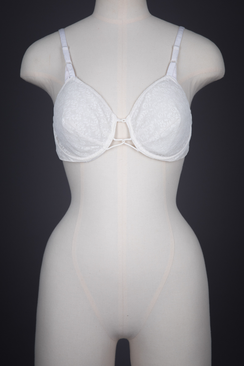 Lace Underwire Bra With Velcro Fastening By Christian Dior, c. 1957, France. The Underpinnings Museum. Photography by Tigz Rice