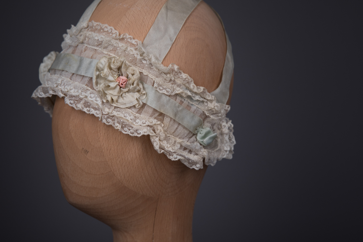 Silk Ribbon, Cotton Tulle & Lace Boudoir Headband By Simonettes, c. 1925, USA. The Underpinnings Museum. Photography by Tigz Rice.