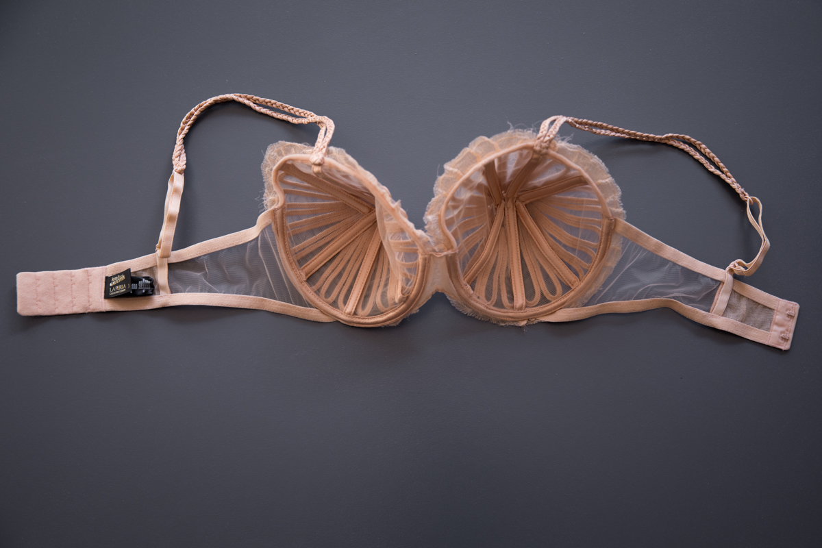 'Feuillage' Silk Soutache Cone Bra & Briefs By Jean Paul Gaultier For La Perla, 2010, Italy. The Underpinnings Museum. Photography by Tigz Rice.