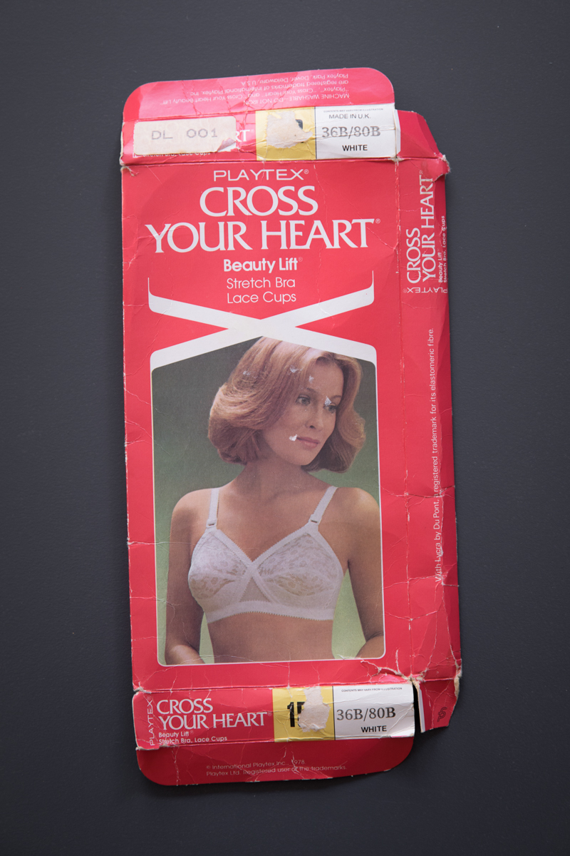 'Cross Your Heart' Lace Bra By Playtex, 1978, United Kingdom. The Underpinnings Museum. Photography by Tigz Rice.